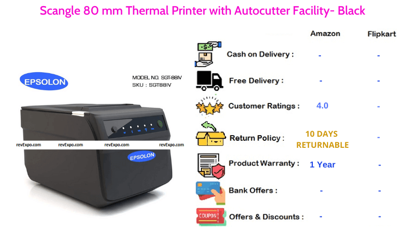 Scangle Thermal Printer 80 mm with Autocutter Facility