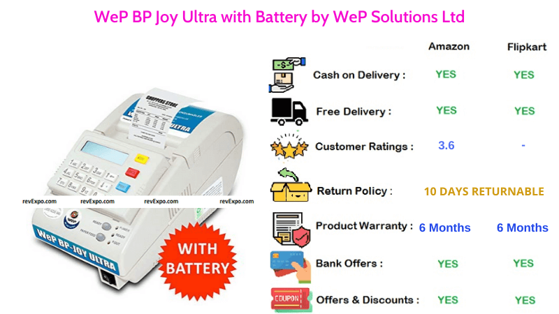 WeP BP Joy Billing Machine with Ultra with Battery by WeP Solutions Ltd