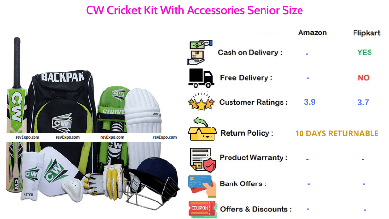 CW Cricket Kit With Accessories Suitable for Seniors