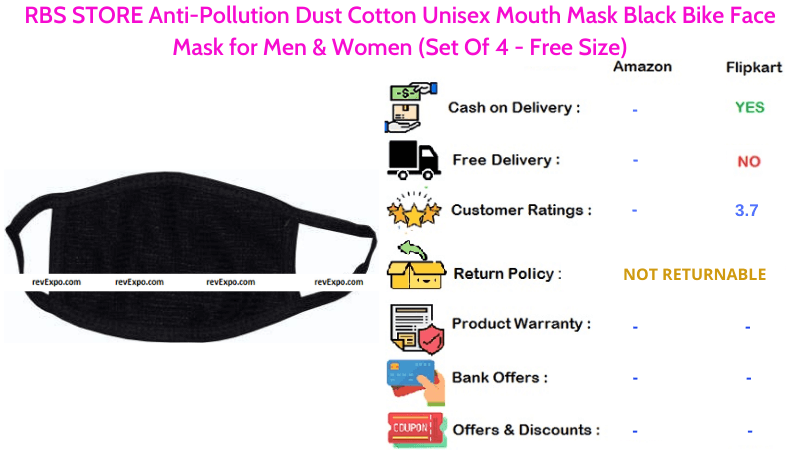 RBS STORE Face Mask Anti-Pollution Dust Cotton Unisex Mouth Mask for Men & Women Bike Riders