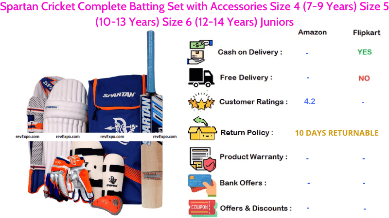 Spartan Complete Cricket Set with Accessories for Juniors