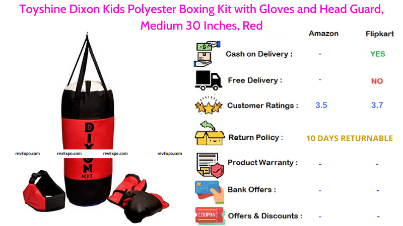 Toyshine Dixon Punching Kit for Kids with Head Guard & Gloves by Polyester Material Medium 30 Inches