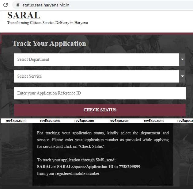 check your saral application status online