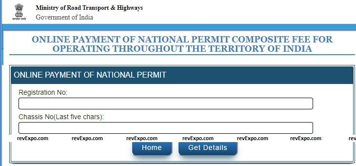 online payment national permit