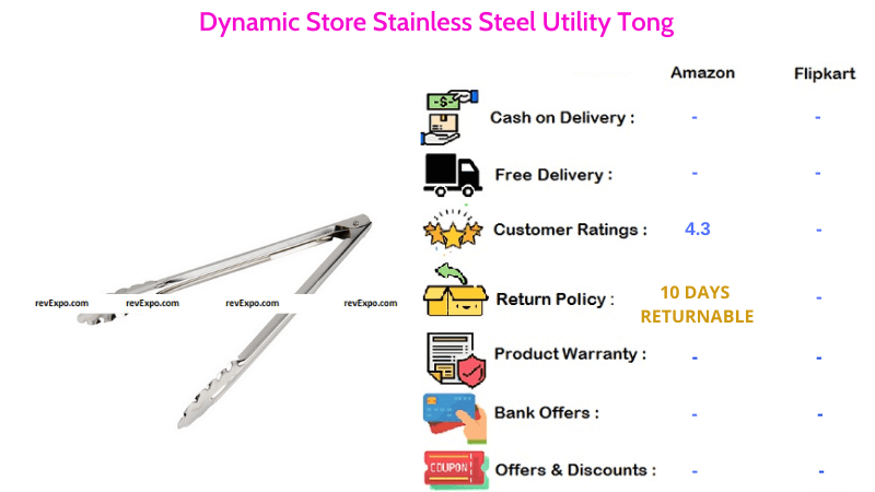 Dynamic Store Utility Tong with Stainless Steel Material