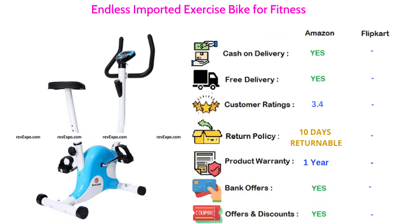 Endless Exercise Bike Imported for Fitness