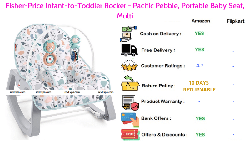 Fisher-Price Portable Baby Rocker Infant-to-Toddler Rocker Pacific Pebble Seat