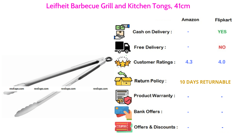 Leifheit Kitchen Tong for Barbecue Grill with 41cm Length