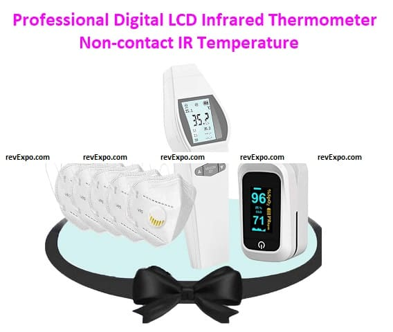 Professional Digital LCD Infrared Thermometer Non-contact IR Temperature