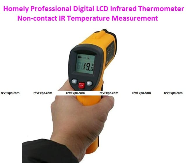 Homely Professional Digital LCD Infrared Thermometer Non-contact IR Temperature Measurement