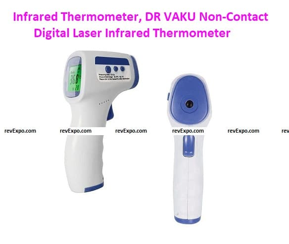 Infrared Thermometer, DR VAKU Non-Contact Digital Laser Infrared Thermometer Temperature Gun