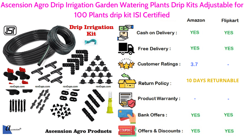 Ascension Agro Drip Irrigation Garden Watering Plants System