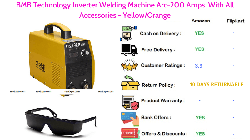 BMB Technology Welding Machine with Arc-200 Amps & All Accessories