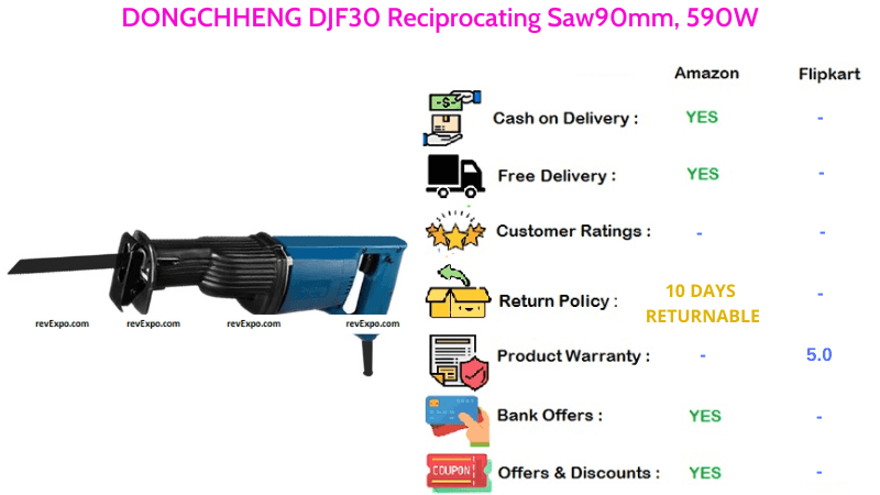 DONGCHHENG Reciprocating Saw DJF30 with 90mm & 590W