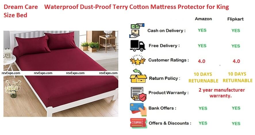 Dream size water proofdust proof terry protector