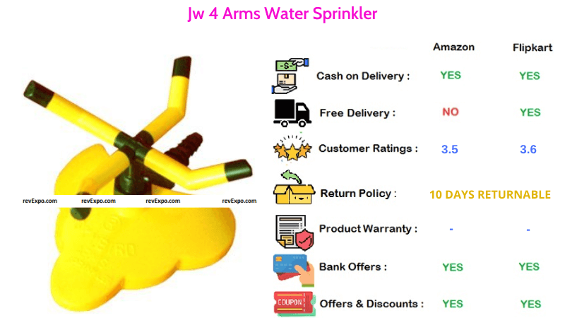 JW Water Sprinkler with 4 Arms