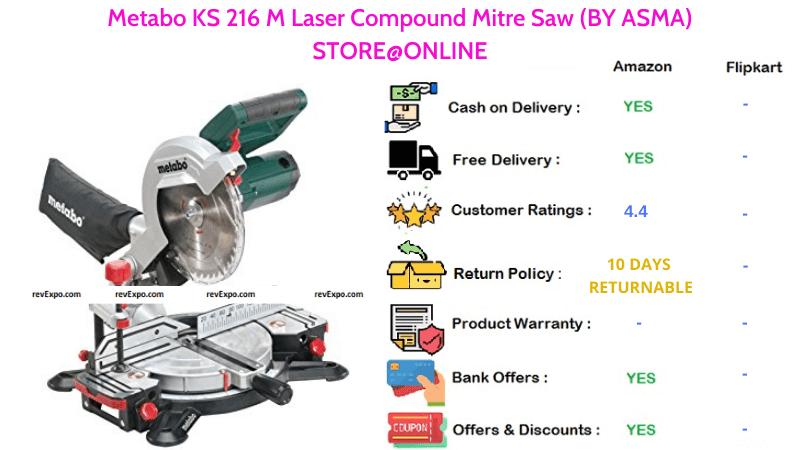 Metabo Laser Compound Mitre Saw KS 216 M BY ASMA STORE