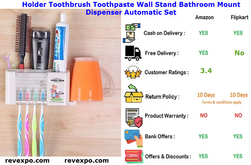 Holder Toothbrush Toothpaste Wall Stand