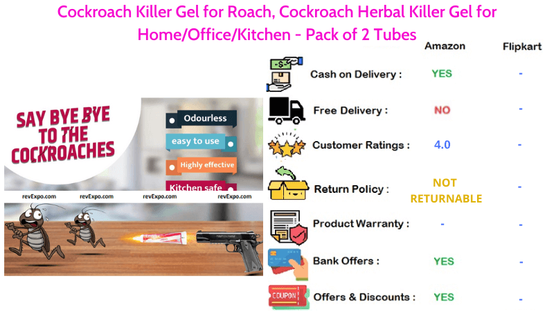 Amish Cockroach Herbal Killer Gel for Home
