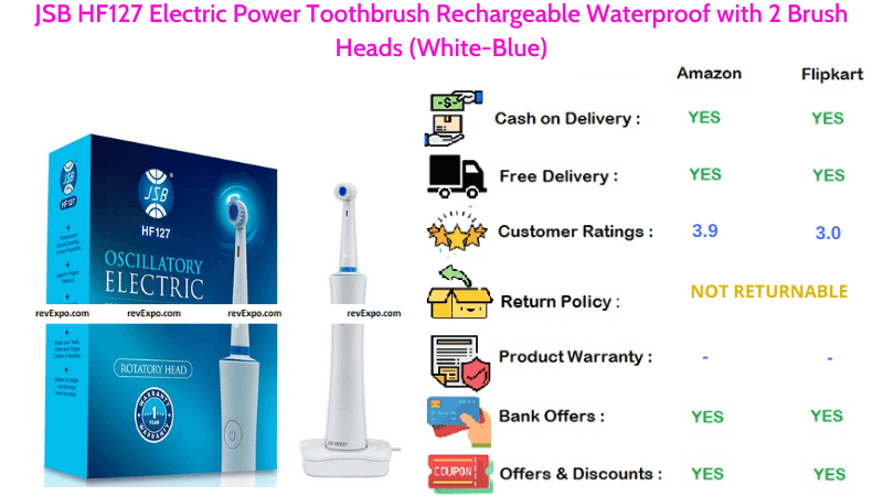 JSB HF127 Electric Toothbrush Rechargeable