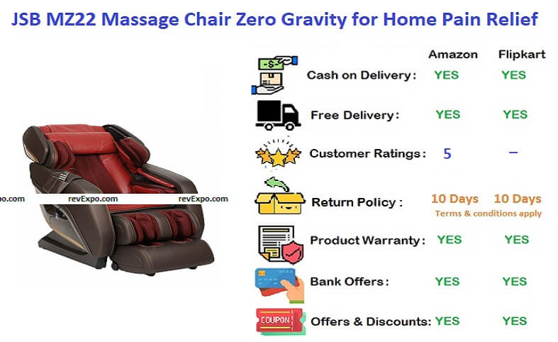 Jsb mz22 massage chair zero fravity for home pain relief