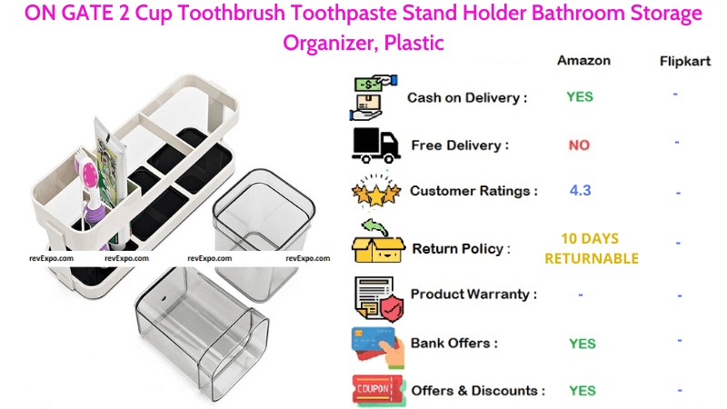 ON GATE Toothbrush & Toothpaste Holder
