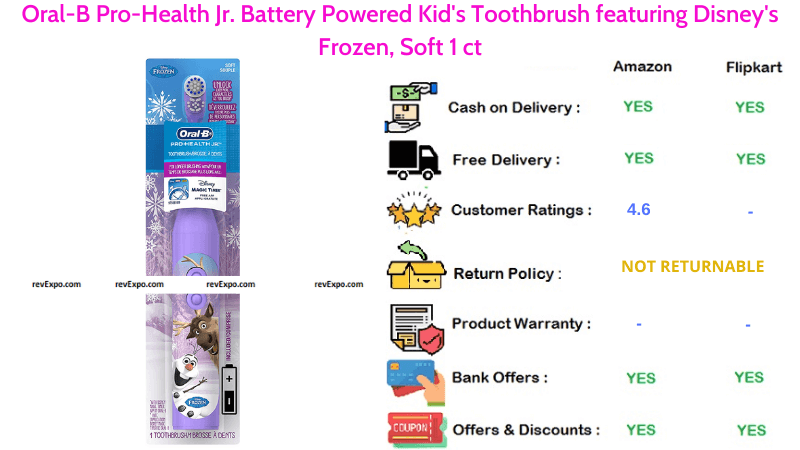Oral-B Pro Health Battery Powered Jr. Kid's Toothbrush Soft
