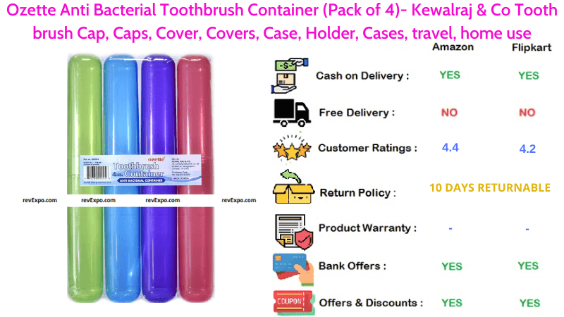 Ozette Anti Bacterial Toothbrush Container