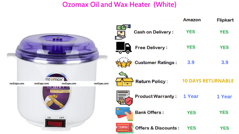 Ozomax Oil and Wax Heater