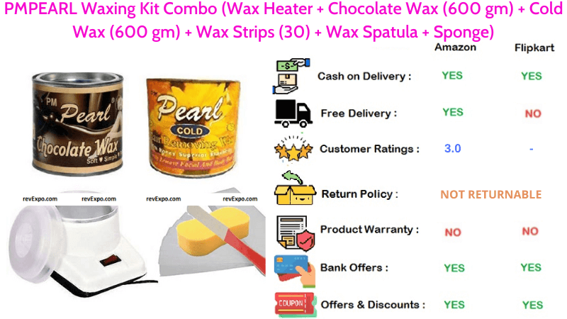 PMPEARL Body Waxing Kit Combo with Wax Heater