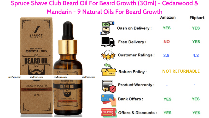 Spruce Shave Club Beard Oil with 9 Natural Oils