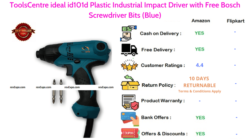 ToolsCentre Plastic Industrial Impact Wrench
