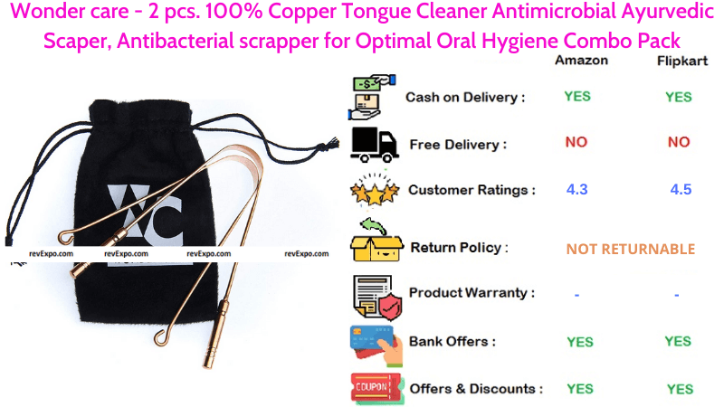 Wonder Care Tongue Cleaner 100% Copper Antimicrobial