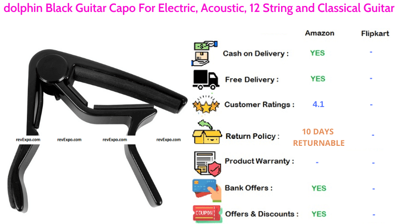Dolphin Classical Guitar Capo with 12 Strings