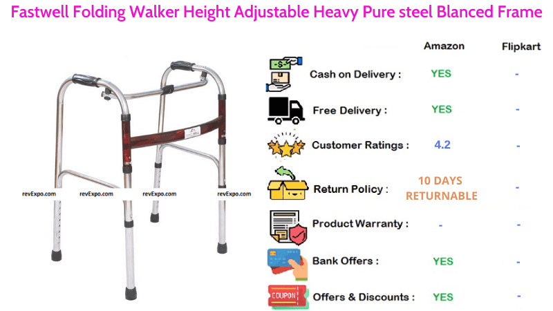Fastwell Folding Walker with Height