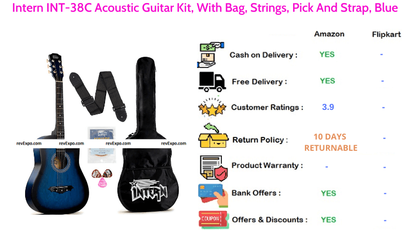 Intern Acoustic Guitar Kit INT-38C with Strings