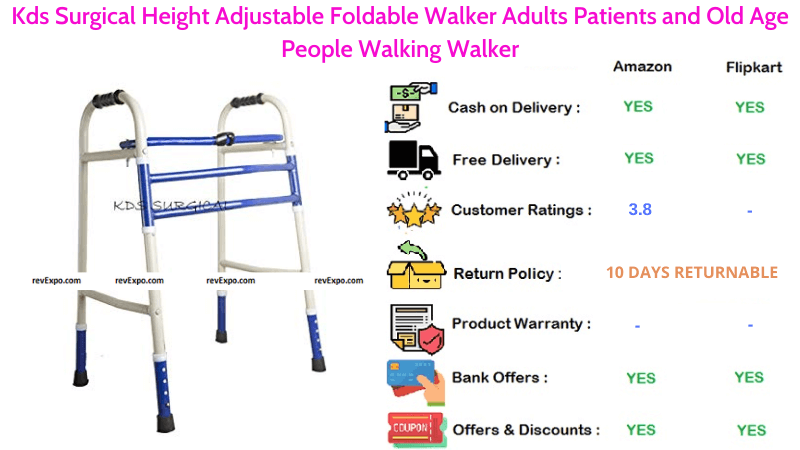 Kds Surgical Foldable Walker with Height