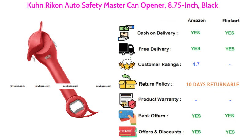 Kuhn Rikon Master Can Opener with Auto Safety