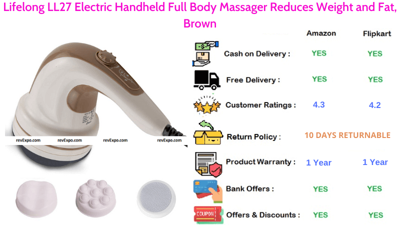 LifelongLL27 Full BodyMassager with Electric