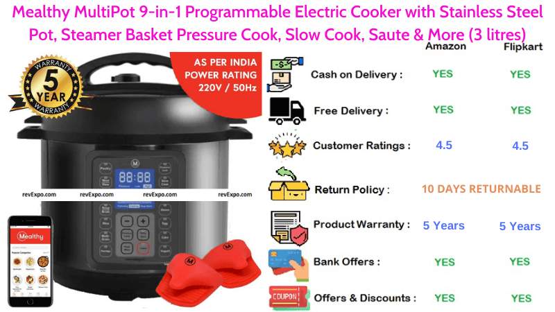 Mealthy 9-in-1 Programmable MultiPot Electric Cooker