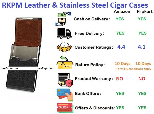 RKPM Leather & Stainless Steel Cigarette Cases