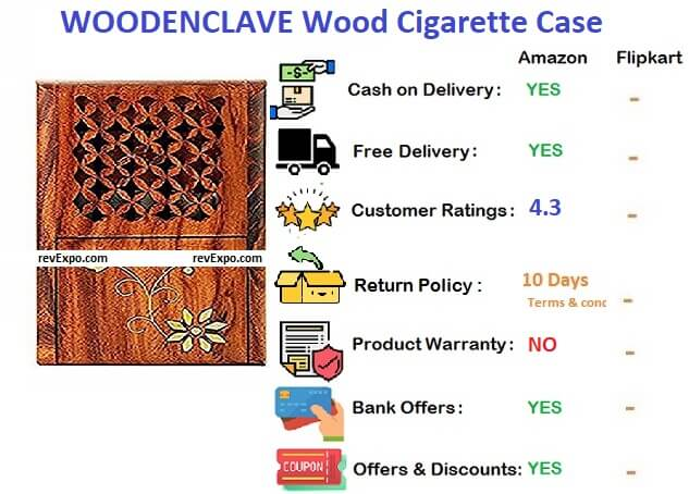 Woodenclave wood cigareete case