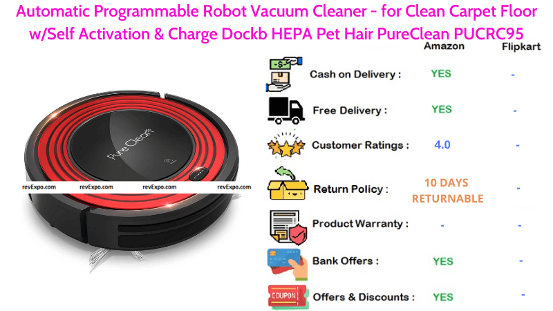 Automatic Programmable Robot Vacuum Cleaner PureClean PUCRC95