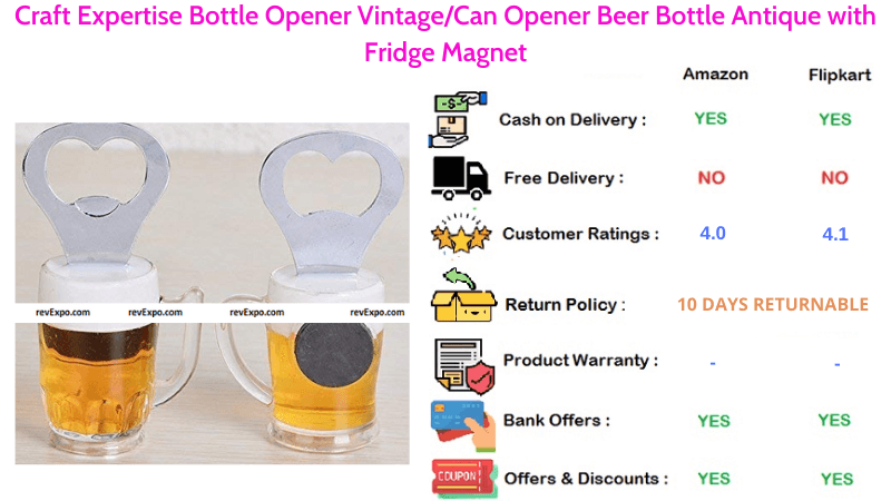 Craft Expertise Vintage Beer Opener with Antique