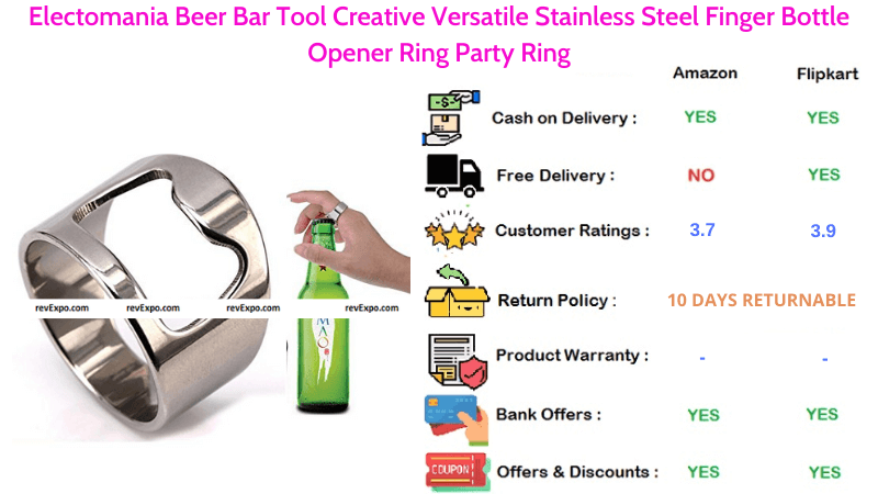 Electomania Beer Opener with Creative Versatile Stainless