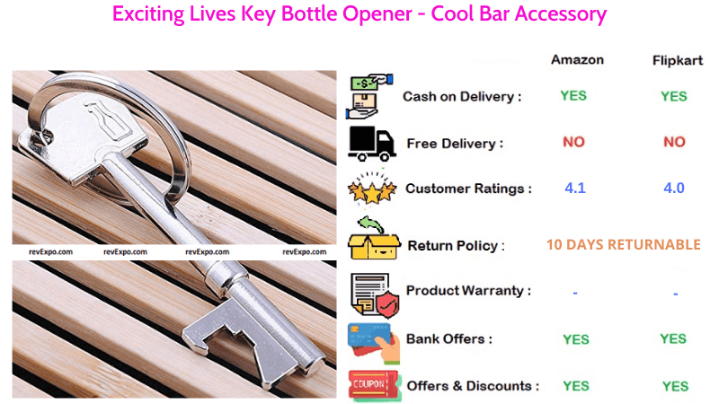 Exciting Lives Key Style Bottle Opener Cool Bar Accessory