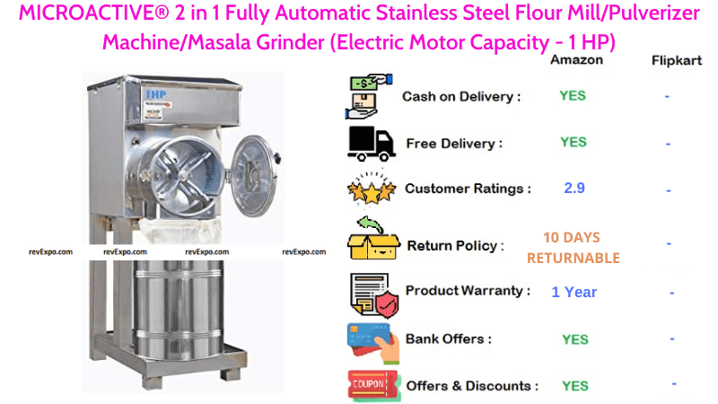 MICROACTIVE® Fully Automatic Stainless Steel 2 in 1 Flour