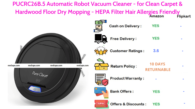 PUCRC26B.5 Automatic Robot Vacuum Cleaner