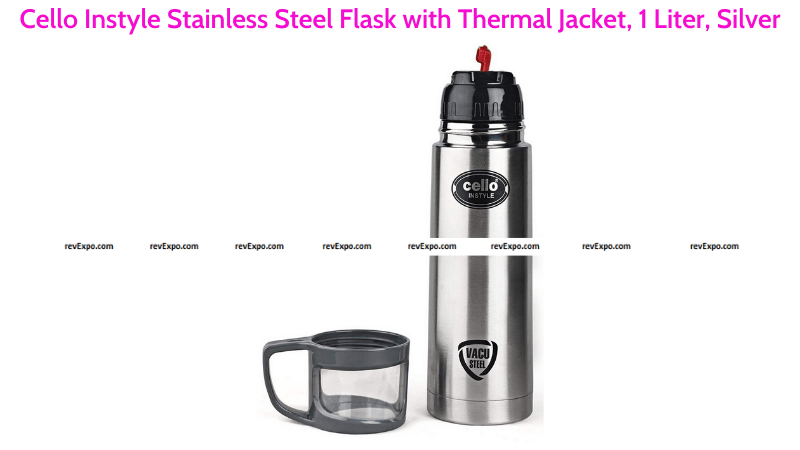 Cello Instyle Steel Flask with Thermal Jacket