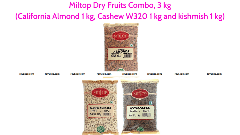 Miltop Dry Fruits Combo California Almond 1 kg